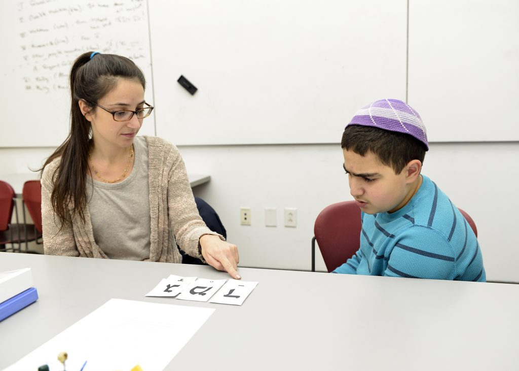 photo of a B'nei Mitzvah student and tutor