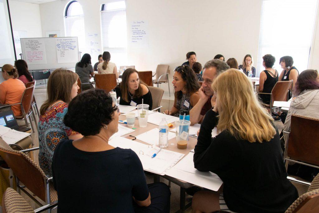 educators at a workshop