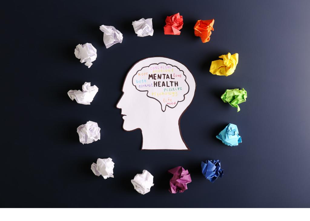 image of head symbolizing mental health
