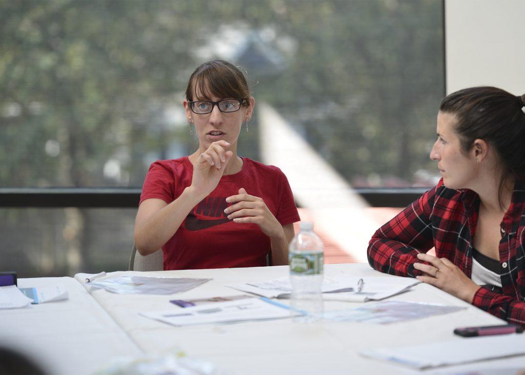 educators talking at a table