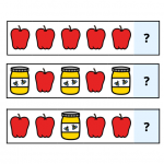 image symbol for apples and honey pattern matching activity