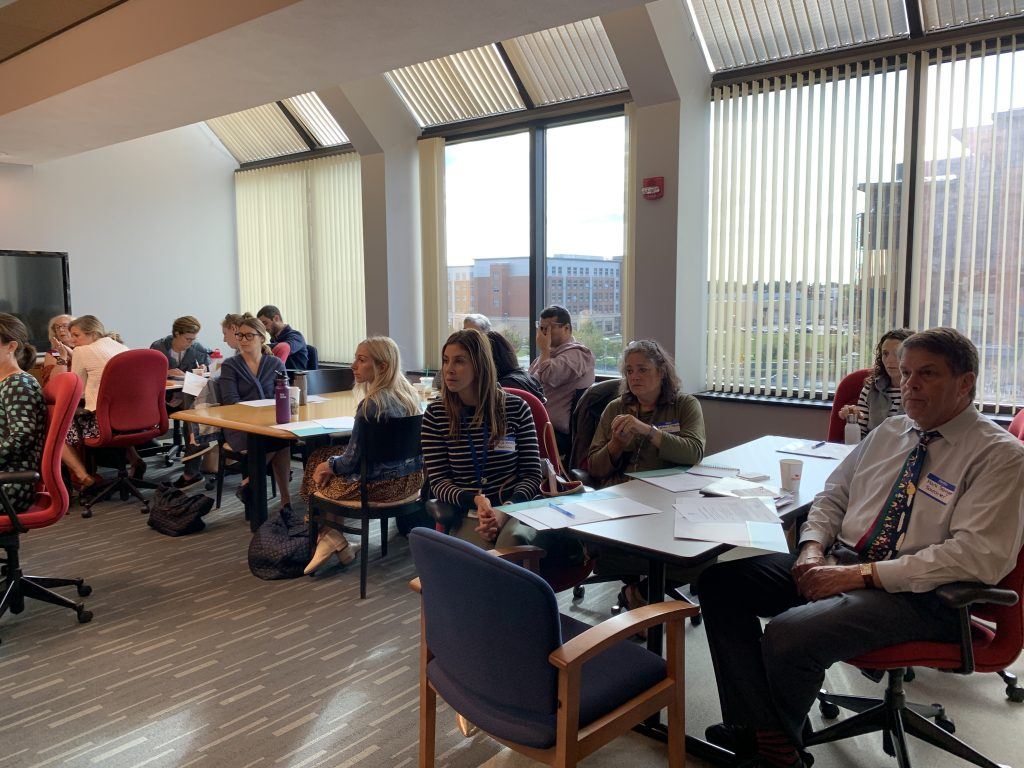 photo of educators learning together at a workshop