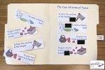 image of Purim mitzvot matching file folder