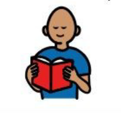 image symbol of a person reading