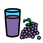 image symbol of grape juice