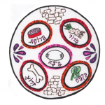 drawing of a seder plate