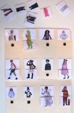 photo of Purim costume match activity