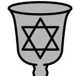 picture symbol of a kiddush cup