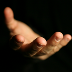 outstretched hand