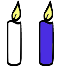 image of two candles side by side