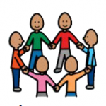 image symbol of people holding hands in a circle