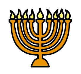 image symbol of a lit chanukkiah