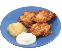 photo of plate of latkes
