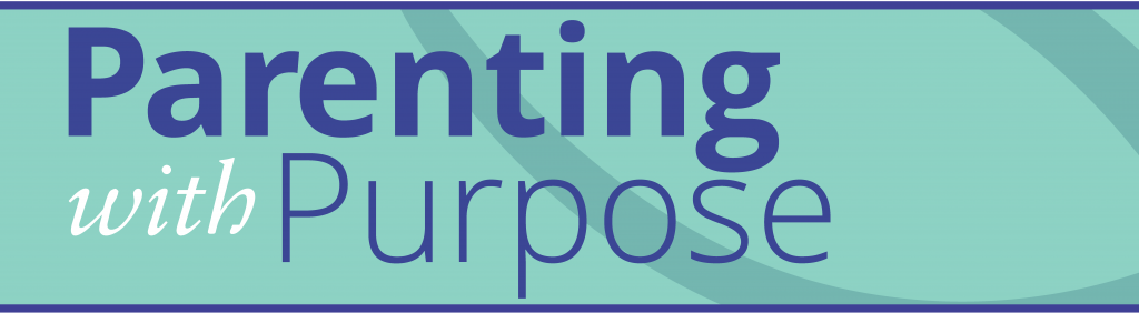 """text that says """"Parenting with Purpose"""""""