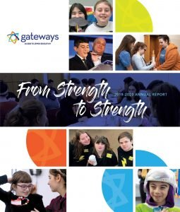 photo of cover of Gateways' 2019-20 annual report